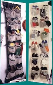 24 Pocket Back Of Door Shoe and Stuff Organizer - Closet Storage, Space Savers; Click On Image To Enlarge